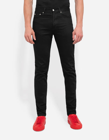Givenchy Black Star Embroidery Slim Jeans