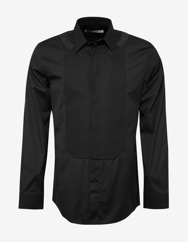Givenchy Black Stars & Band Contemporary Fit Shirt with Bib