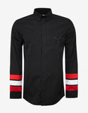 Black Stars & Bands Contemporary Fit Shirt