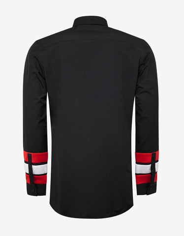 Givenchy Black Stars & Bands Contemporary Fit Shirt