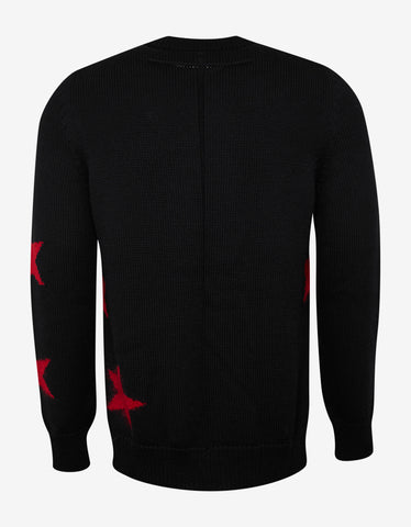 Givenchy Black Sweater with Perforated Stars