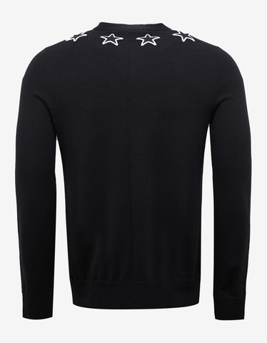 Givenchy Black Sweater with Stars