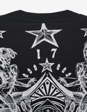 Black Tattoo Print Columbian Fit Sweatshirt