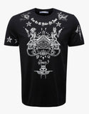 Black Tattoo Print Cuban Fit T-Shirt