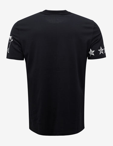 Givenchy Black Tattoo Print Cuban Fit T-Shirt