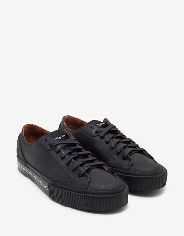 Black Industrial Vulcanized Mid Top Trainers