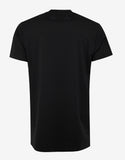 Black Oversized T-Shirt with Tonal Stars