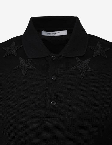 4eb27251 Givenchy Black Cuban Fit Polo T-Shirt with Tonal Stars – ZOOFASHIONS.COM