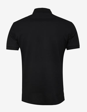 Black Upside Down Logo Polo T-Shirt