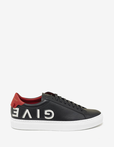 Givenchy Black Upside Down Logo Trainers
