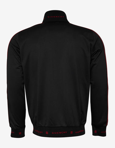 Givenchy Black Velvet Band Zip Track Jacket