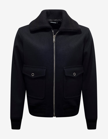 Black Track Jacket with Removable Sleeves