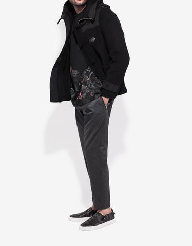 Givenchy Black Wool Duffel Coat