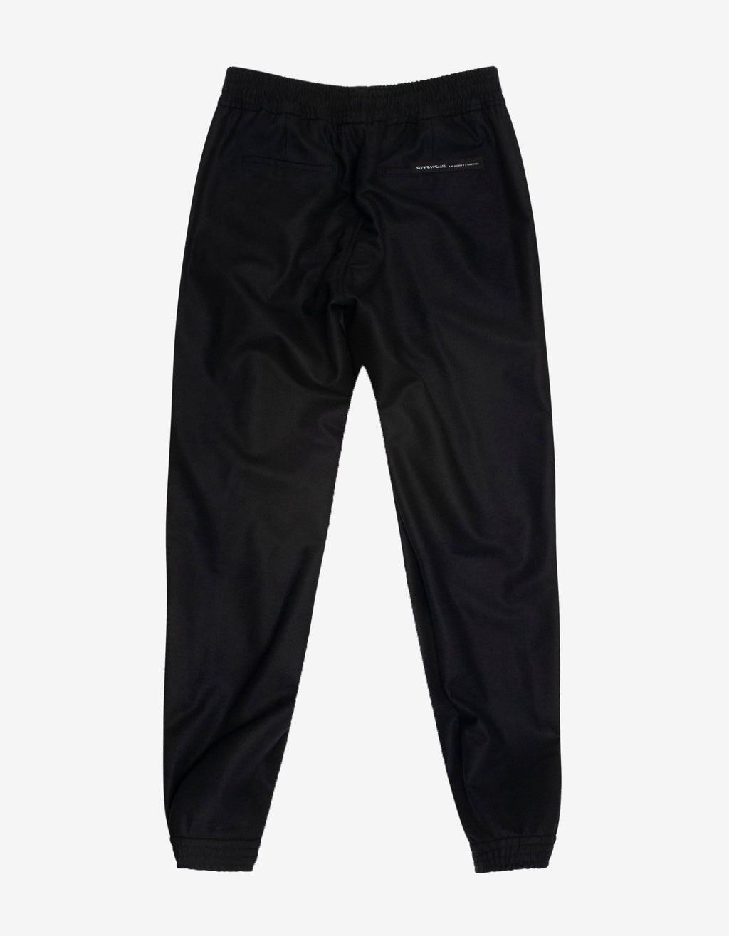 Black Wool Jogging Bottoms