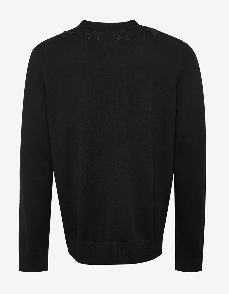 25c514852cd8 Givenchy Black Wool Sweater with Tonal Stars – ZOOFASHIONS.COM