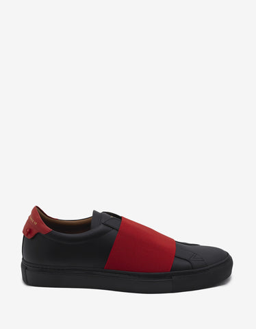 Givenchy Skate Elastic Black & Red Leather Trainers