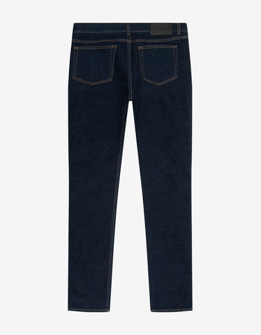 Givenchy Blue Slim Jeans with Logo Bands