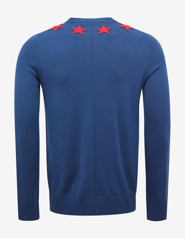Givenchy Blue Sweater with Stars