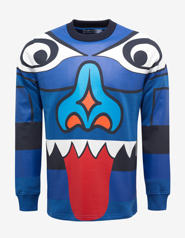Givenchy Blue Totem Print Cuban Fit Sweatshirt