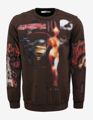 Givenchy Brown Heavy Metal Cuban Fit Sweatshirt