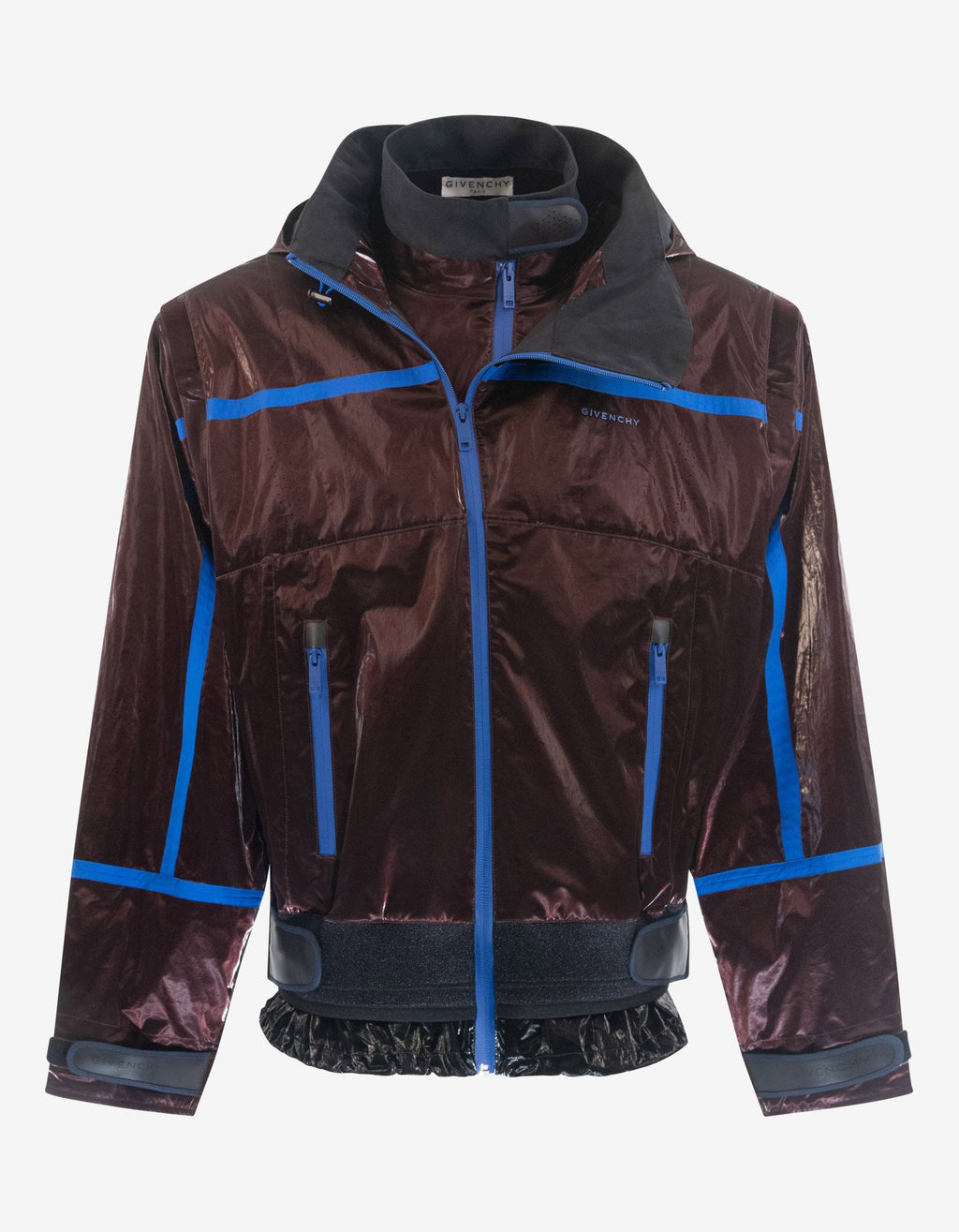 Burgundy Wax Cotton Windbreaker -