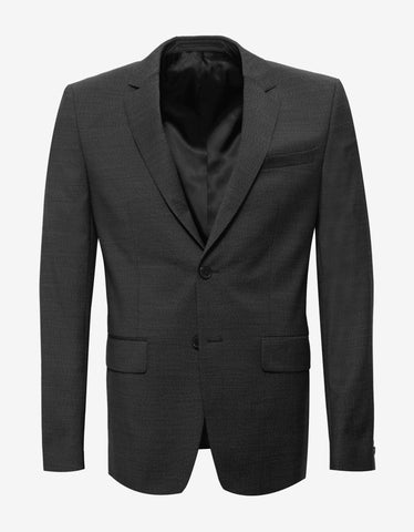 Givenchy Charcoal Black Wool Two-Button Suit