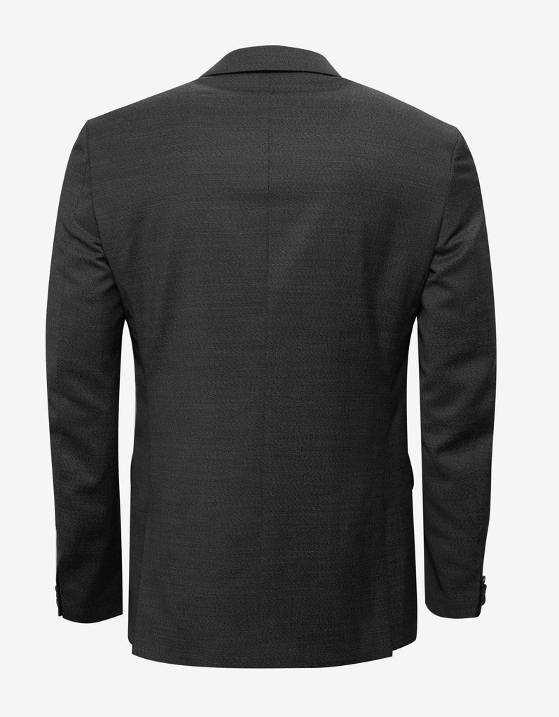 Charcoal Black Wool Two-Button Suit