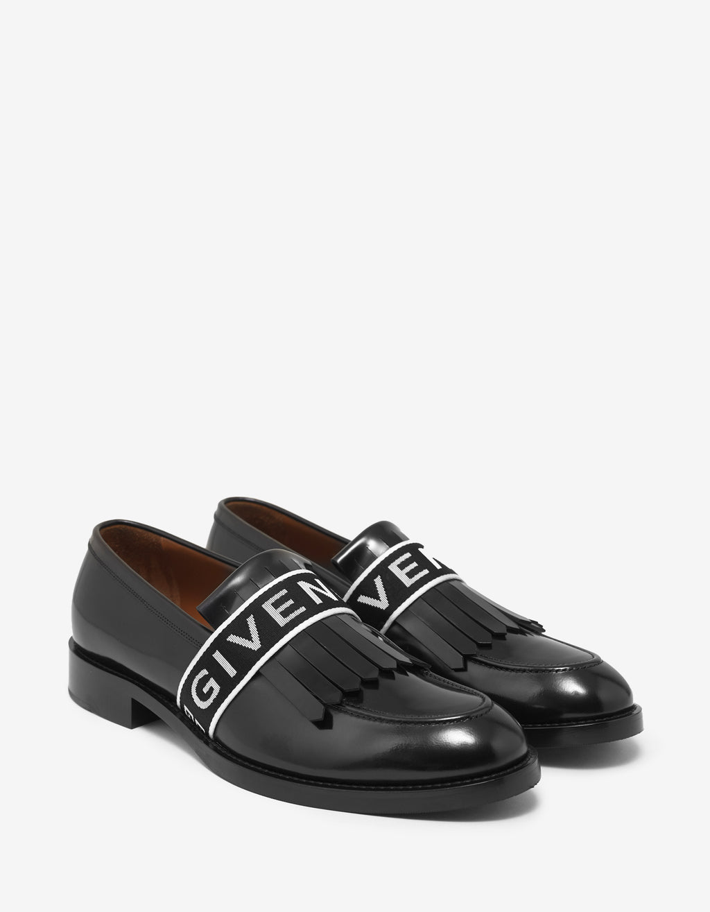 Cruz Black Logo Band Penny Loafers