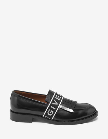 Givenchy Cruz Black Logo Band Penny Loafers