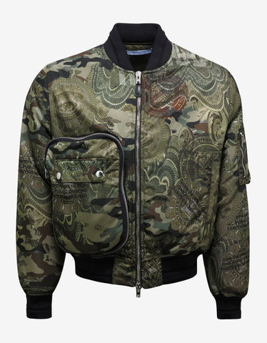 Givenchy Dollar Print Bomber Jacket
