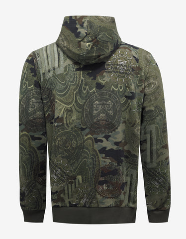Givenchy Green Money & Camo Print Cuban Fit Hoodie