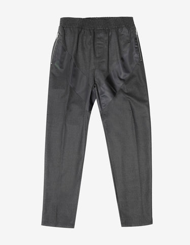 Givenchy Grey Casual Trousers with Nylon Band