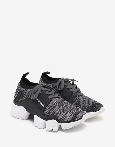 Givenchy Grey Marl Jaw Sock Trainers