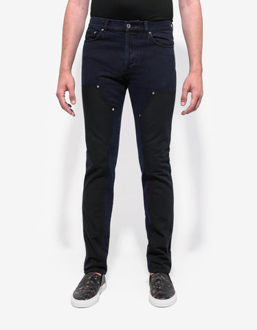 Givenchy Indigo Wash Contrast Panel Denim Jeans