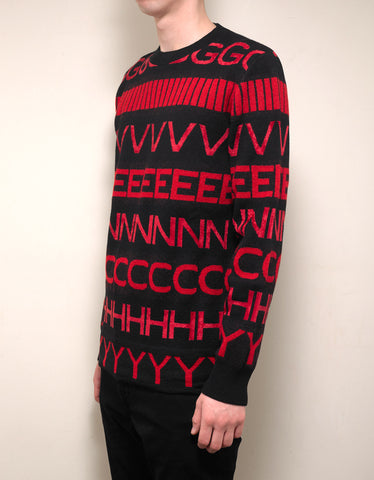 Givenchy Logo Intarsia Wool Blend Sweater