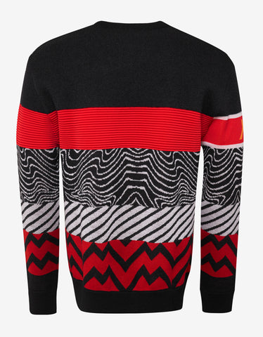 Givenchy Multi-Motif Logo Wool Blend Sweater