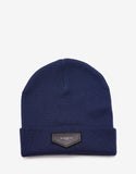 Navy Blue Logo Badge Beanie Hat
