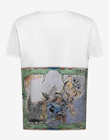 Givenchy Off-White Monsters Print Oversized T-Shirt