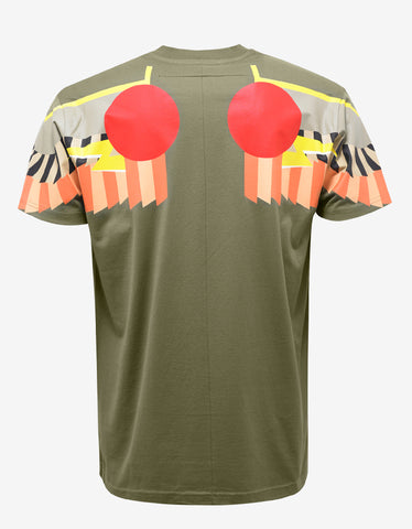 Givenchy Olive Green Egyptian Wings Columbian Fit T-Shirt