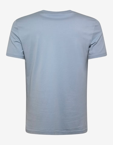 Givenchy Pale Blue Vintage Logo Slim Fit T-Shirt