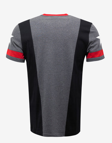 Givenchy Panelled Stars & Band Cuban Fit T-Shirt