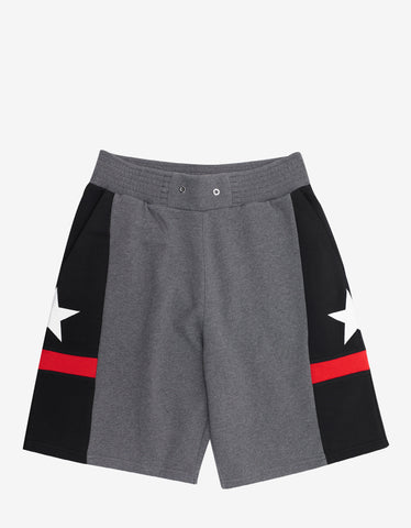 Givenchy Panelled Stars & Band Sweat Shorts