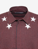 Red Check Cracked Star Shirt