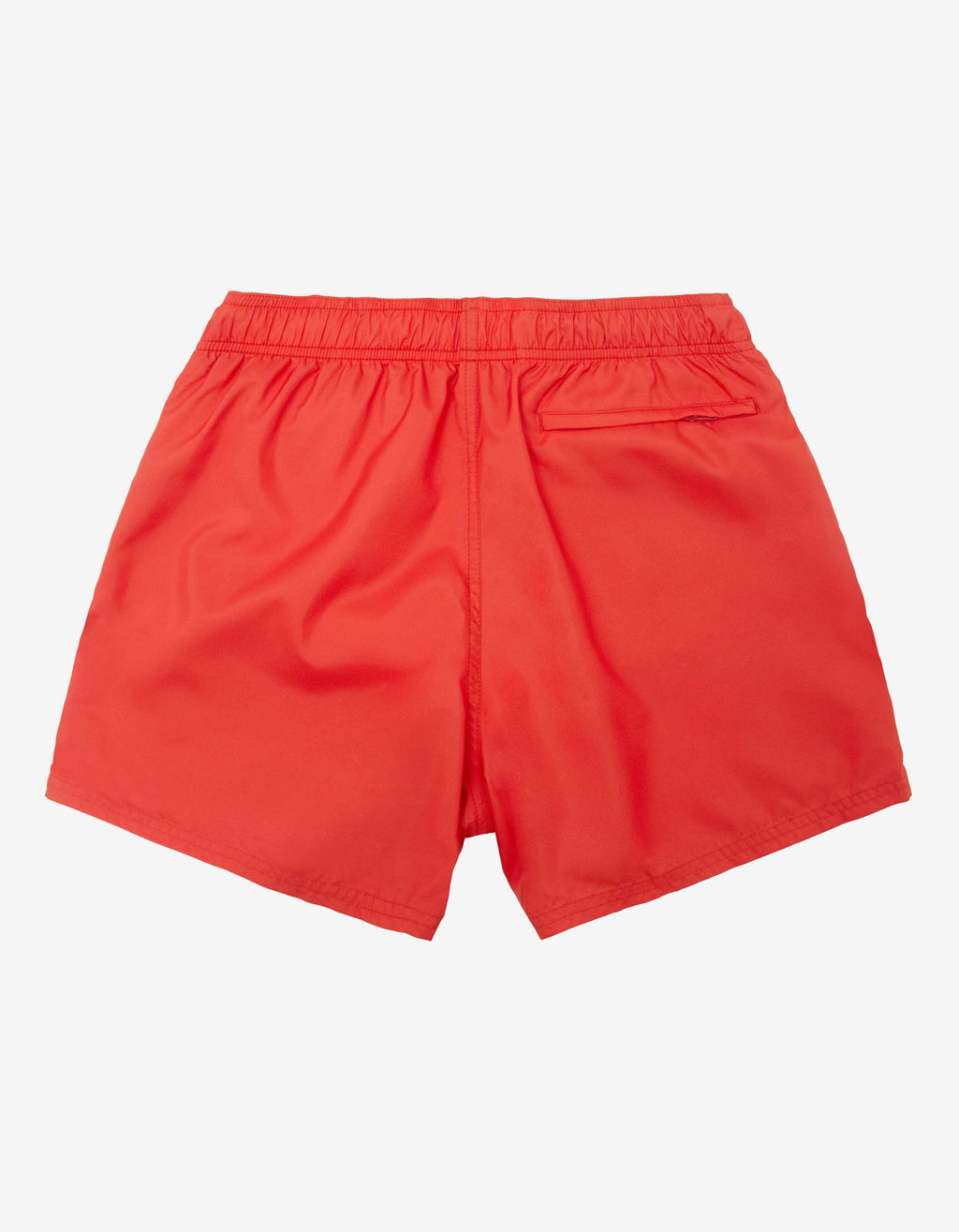 Red Classic Logo Short-Length Swim Shorts -