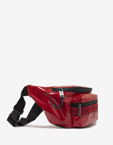 Givenchy Red Light 3 Patent Canvas Waist Bag