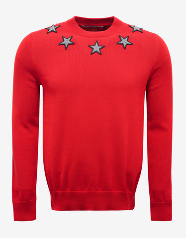 Givenchy Red Star Badge Sweater
