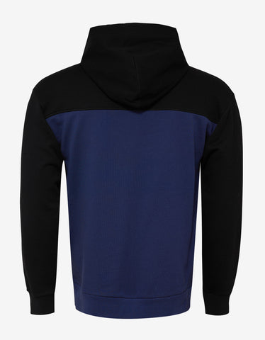 Givenchy Black & Blue Towelling Logo Hoodie