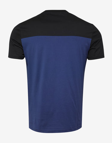 Givenchy Black & Blue Towelling Logo T-Shirt