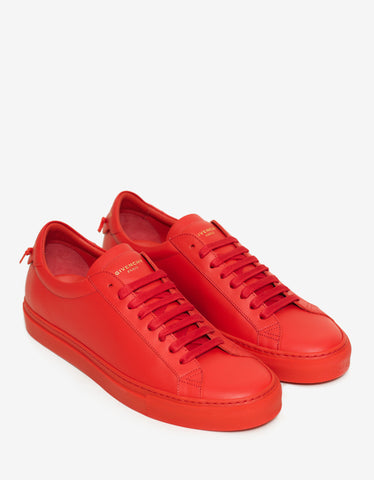 Givenchy Urban Street Low Red Leather Trainers