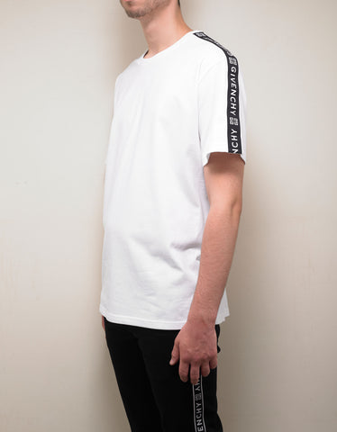 Givenchy White 4G Logo Band T-Shirt